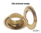 Oka na plachty kruhová ocelová mosazná