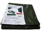 Plachtovina z PVC 560g/m2 2x4m zelená